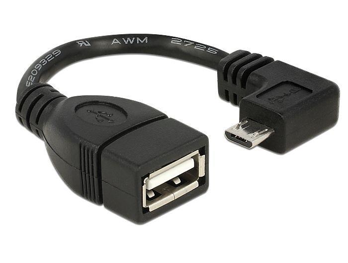 DELOCK USB Kabel »Micro 90 Grad gew. (83104)« in schwarz