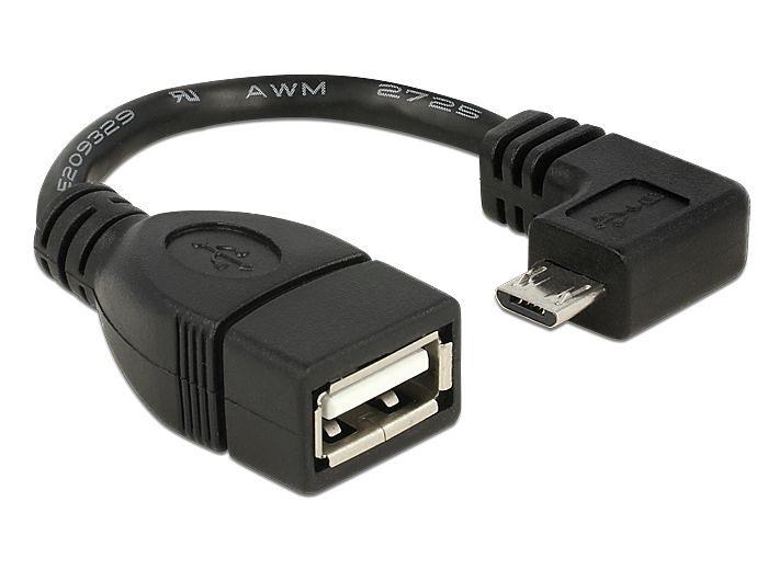 DELOCK USB Kabel »Micro 90 Grad gew. (83104)«