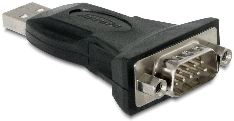DELOCK Adapter »USB zu Seriell (61460)« in schwarz