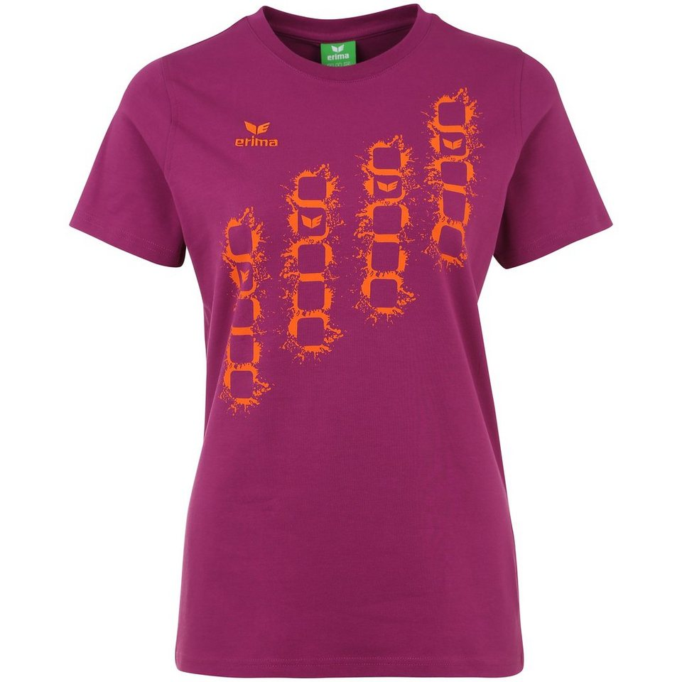 ERIMA GRAFFIC 5-C T-Shirt Damen in magenta/orange