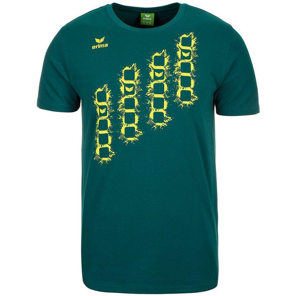 ERIMA GRAFFIC 5-C T-Shirt Herren in pinie/lime