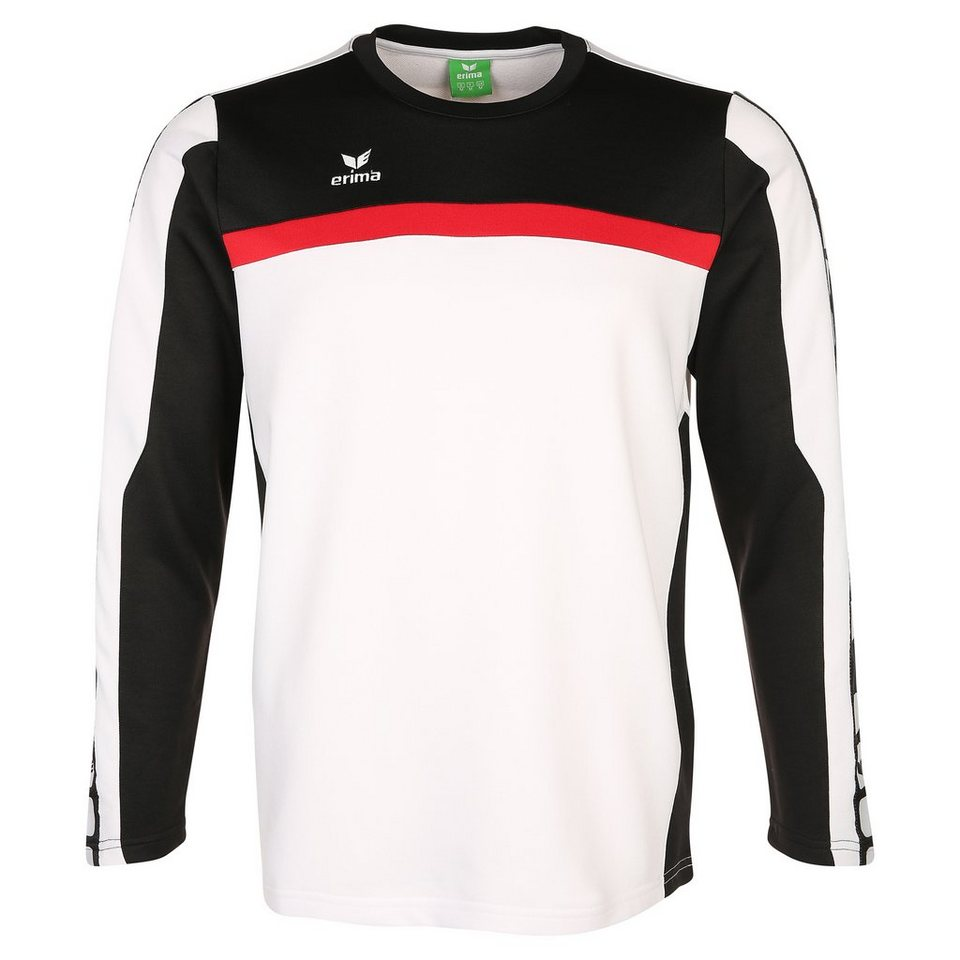 ERIMA 5-CUBES Trainingssweat Herren in weiß/schwarz/rot