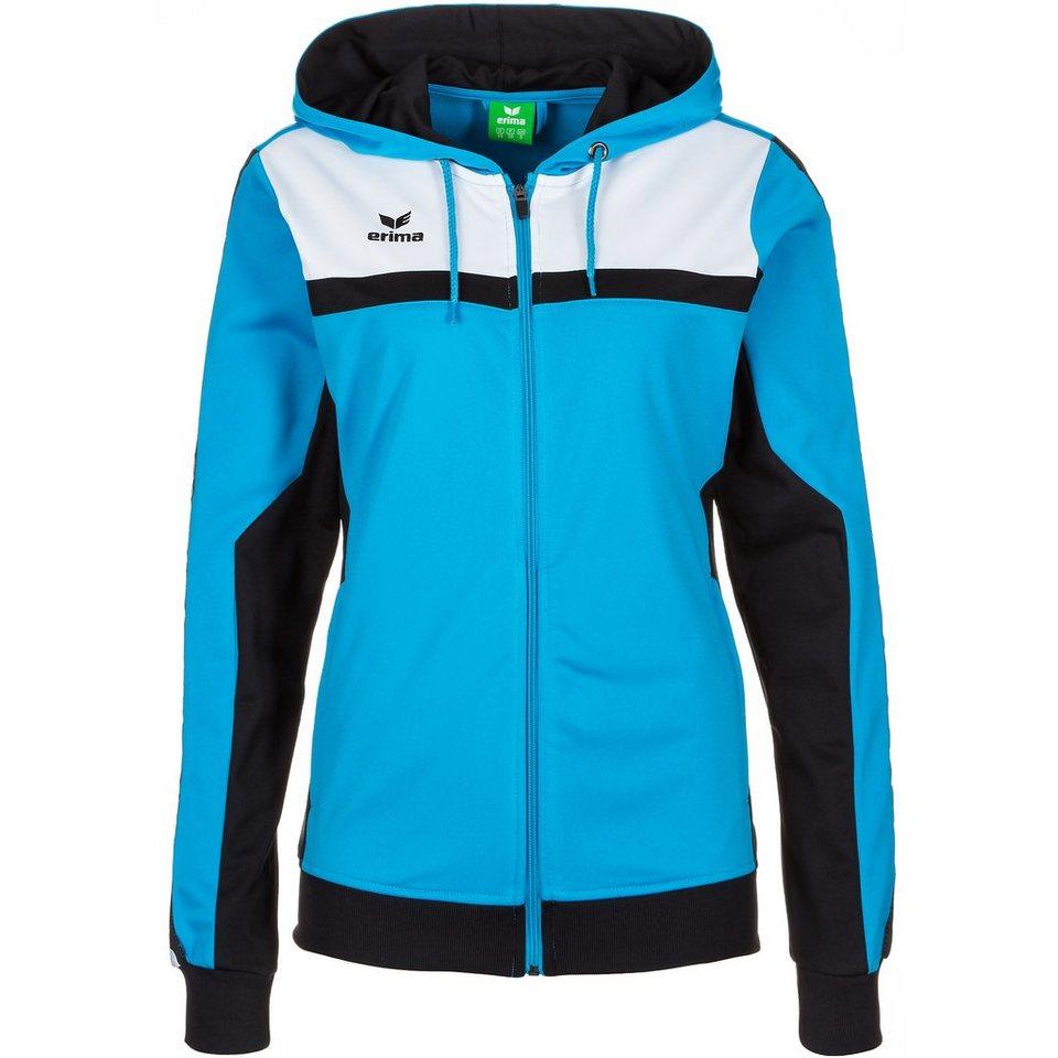 ERIMA 5-CUBES Trainingsjacke mit Kapuze Damen in curacao/schwarz/weiß