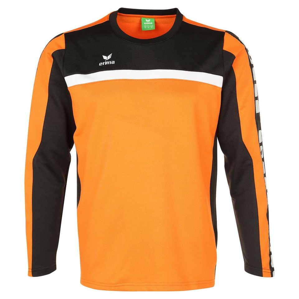 ERIMA 5-CUBES Trainingssweat Herren in orange/schwarz/weiß