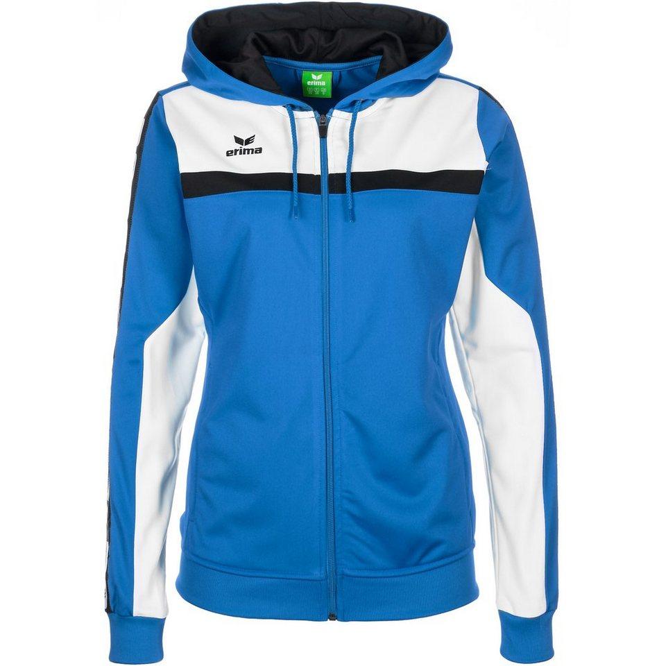 ERIMA 5-CUBES Trainingsjacke mit Kapuze Damen in blau/schwarz/weiß