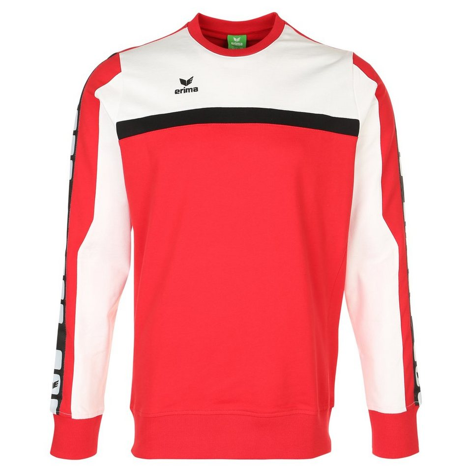 ERIMA 5-CUBES Sweatshirt Kinder in rot/weiß/schwarz