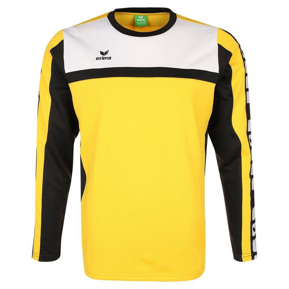 ERIMA 5-CUBES Trainingssweat Kinder in gelb/schwarz/weiß