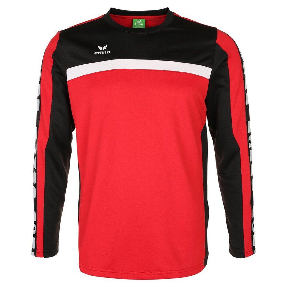 ERIMA 5-CUBES Trainingssweat Kinder in rot/schwarz/weiß