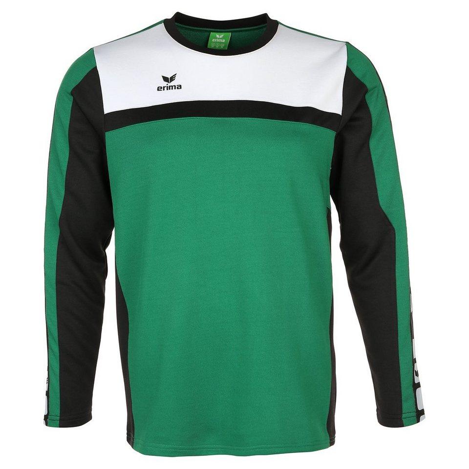 ERIMA 5-CUBES Trainingssweat Kinder in smaragd/schwarz/weiß