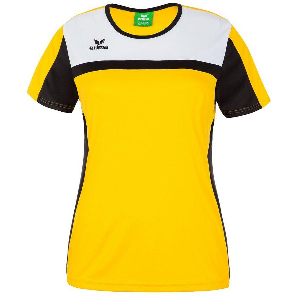 ERIMA 5-CUBES T-Shirt Damen in gelb/schwarz/weiß