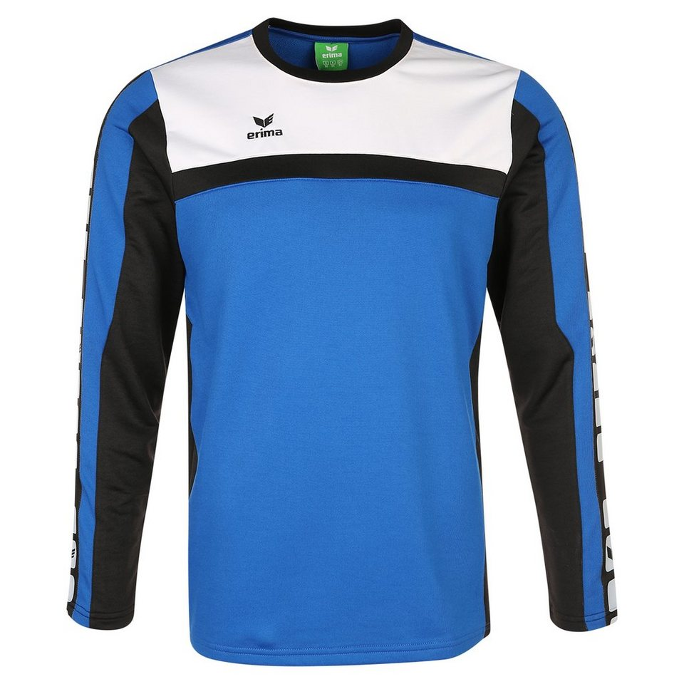 ERIMA 5-CUBES Trainingssweat Kinder in blau/schwarz/weiß