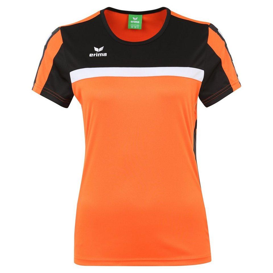 ERIMA 5-CUBES T-Shirt Damen in orange/schwarz/weiß