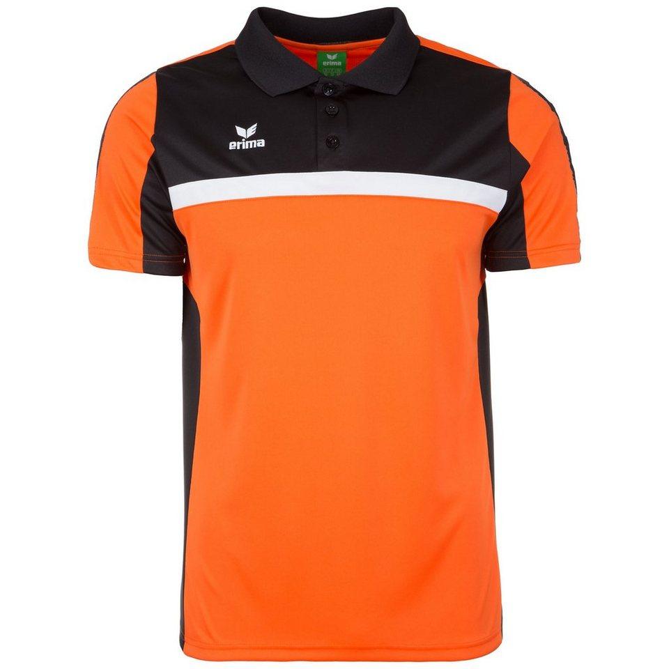 ERIMA 5-CUBES Poloshirt Herren in orange/schwarz/weiß