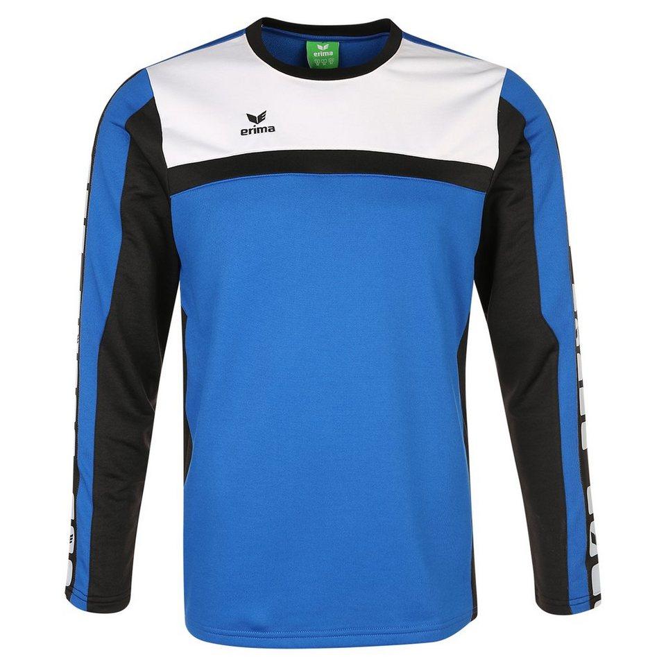 ERIMA 5-CUBES Trainingssweat Herren in blau/schwarz/weiß