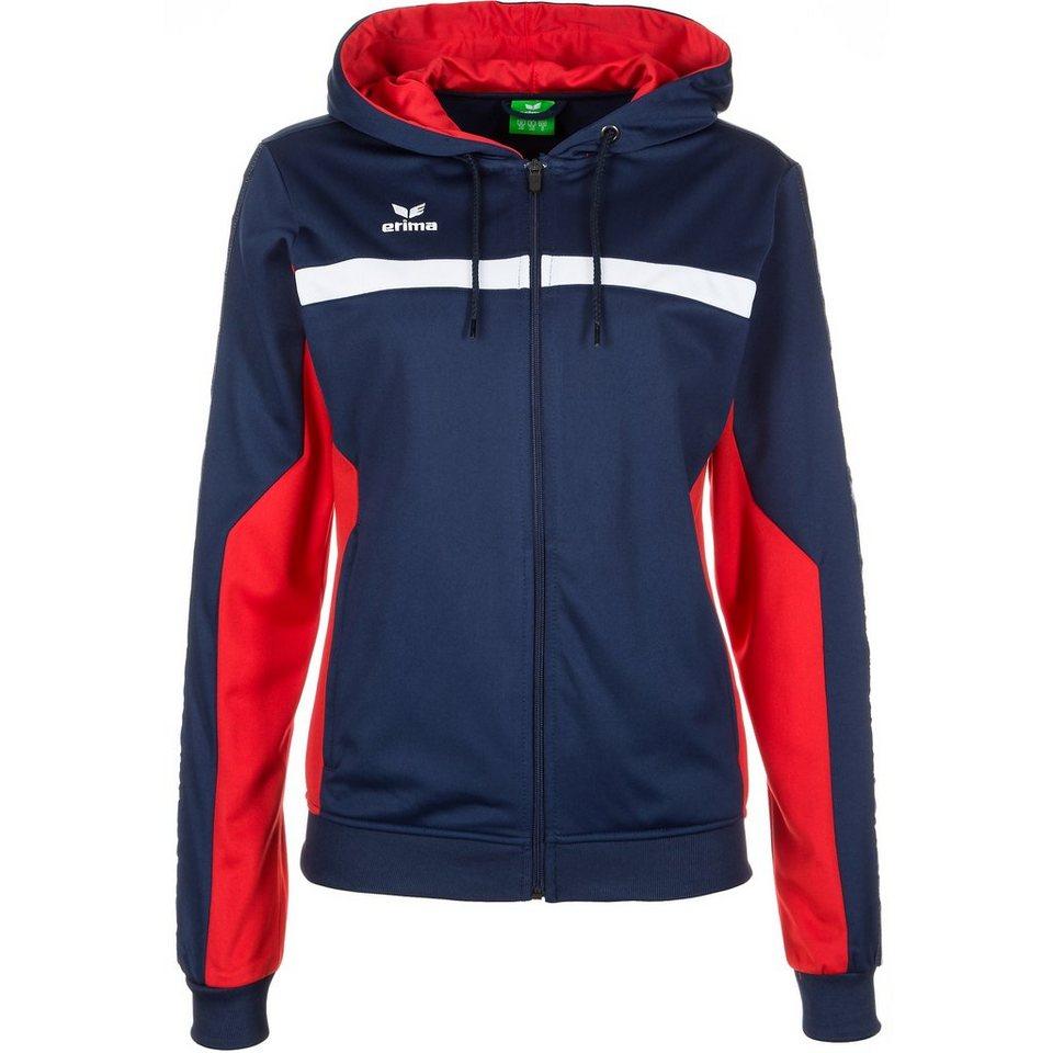 ERIMA 5-CUBES Trainingsjacke mit Kapuze Damen in new navy/rot