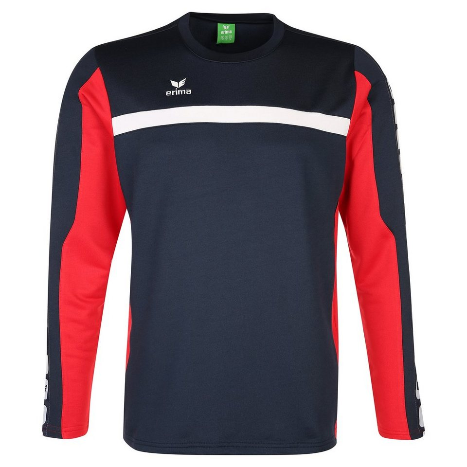 ERIMA 5-CUBES Trainingssweat Kinder in new navy/rot