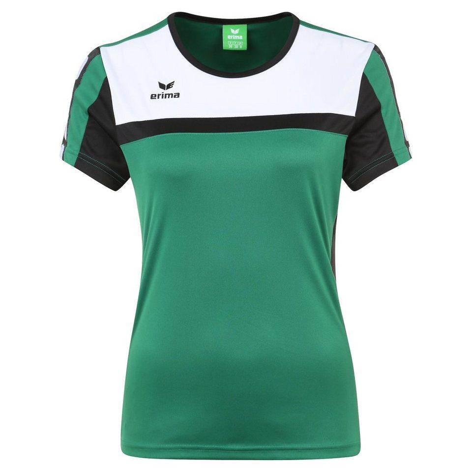 ERIMA 5-CUBES T-Shirt Damen in smaragd/schwarz/weiß