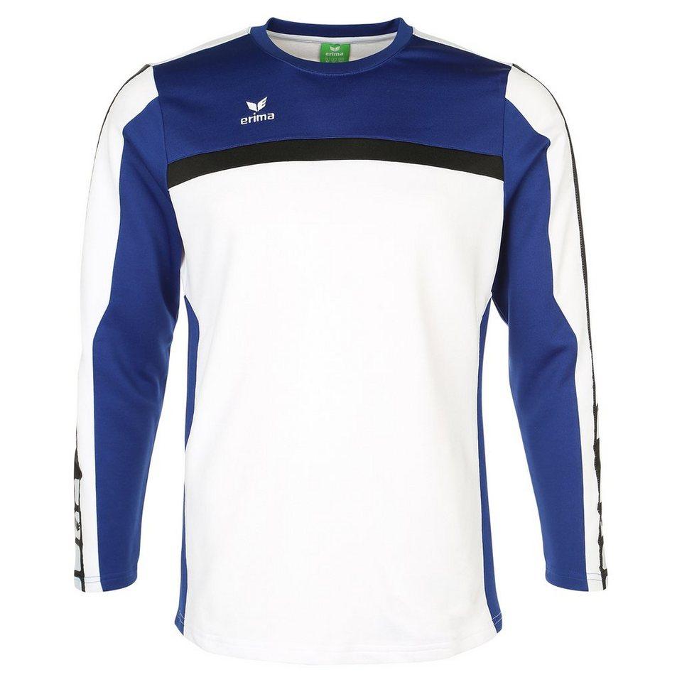 ERIMA 5-CUBES Trainingssweat Herren in weiß/blau/schwarz