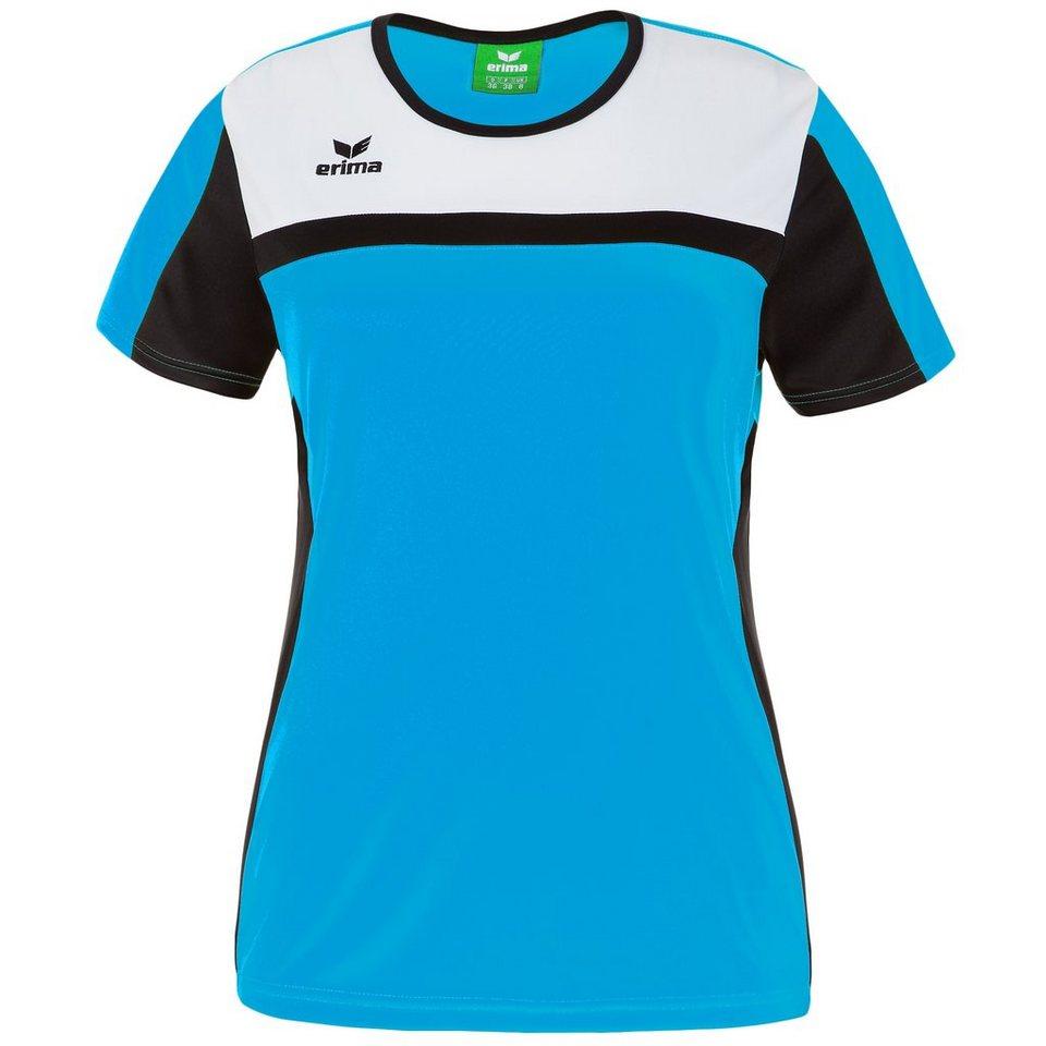 ERIMA 5-CUBES T-Shirt Damen in curacao/schwarz/weiß