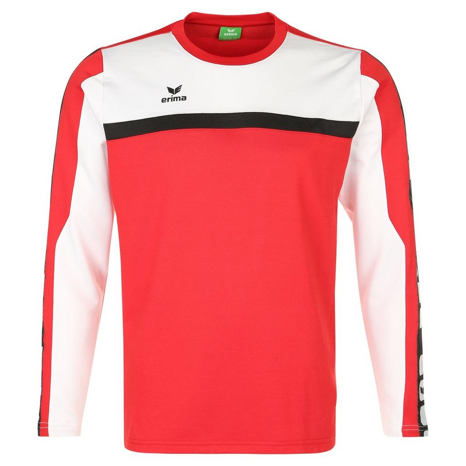 ERIMA 5-CUBES Trainingssweat Kinder in rot/weiß/schwarz
