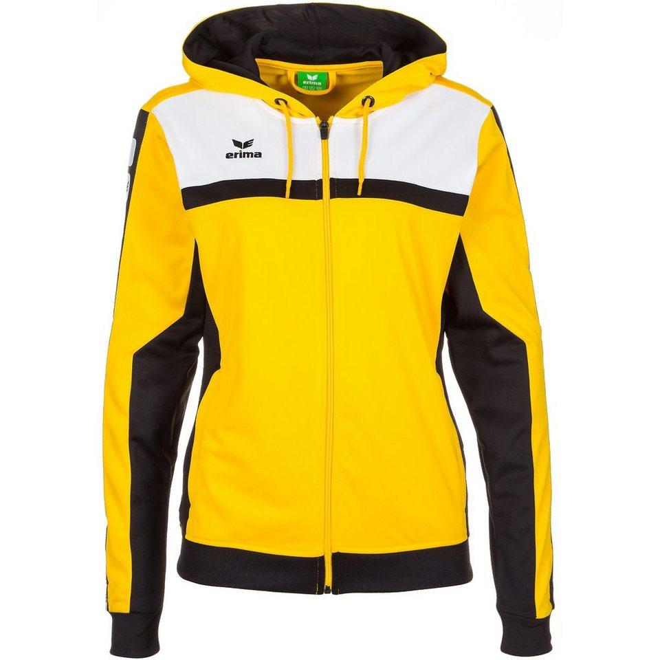 ERIMA 5-CUBES Trainingsjacke mit Kapuze Damen in gelb/schwarz/weiß