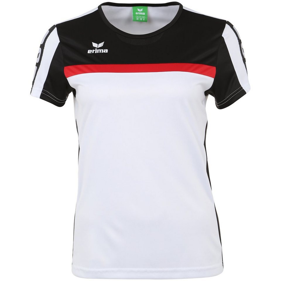 ERIMA 5-CUBES T-Shirt Damen in weiß/schwarz/rot