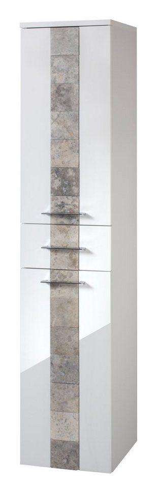 Hochschrank »Stone«, Breite 33 cm in weiß