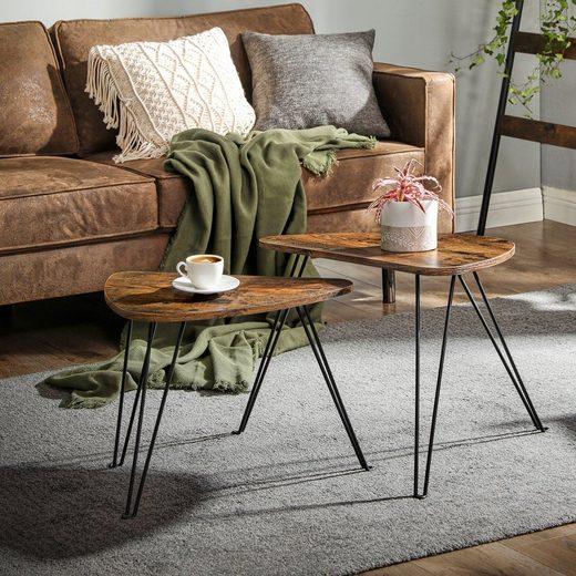 VASAGLE Beistelltisch »LNT012B01«, 2er Set Couchtische, Tisch für Wohnzimmer, vintage