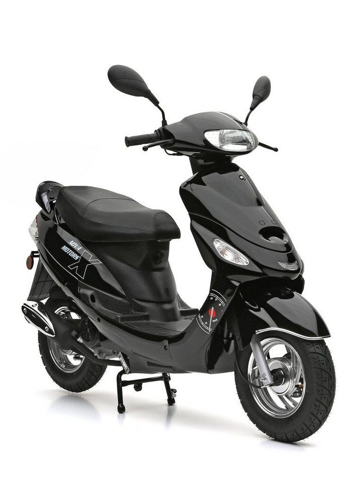 Nova Motors Mofaroller, 49 ccm, 25 km/h, schwarz, »City Star« in schwarz