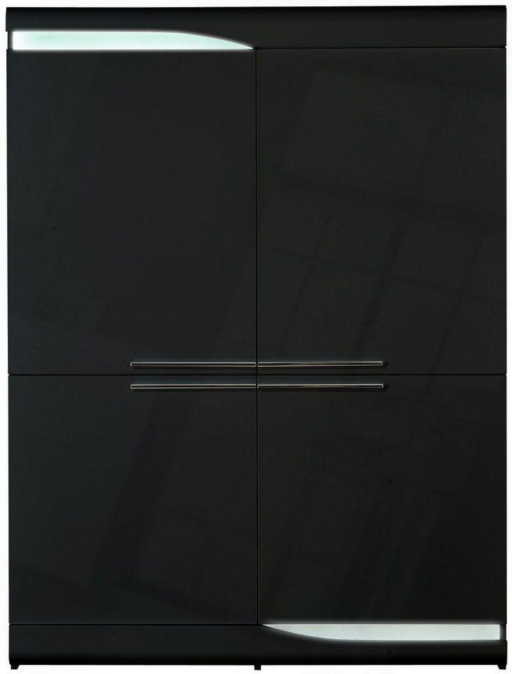 S.C.I.A.E. Highboard »Ovio«, Breite 120 cm in schwarz