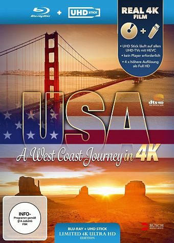 Blu-ray »USA - A West Coast Journey (UHD Stick in Real...«