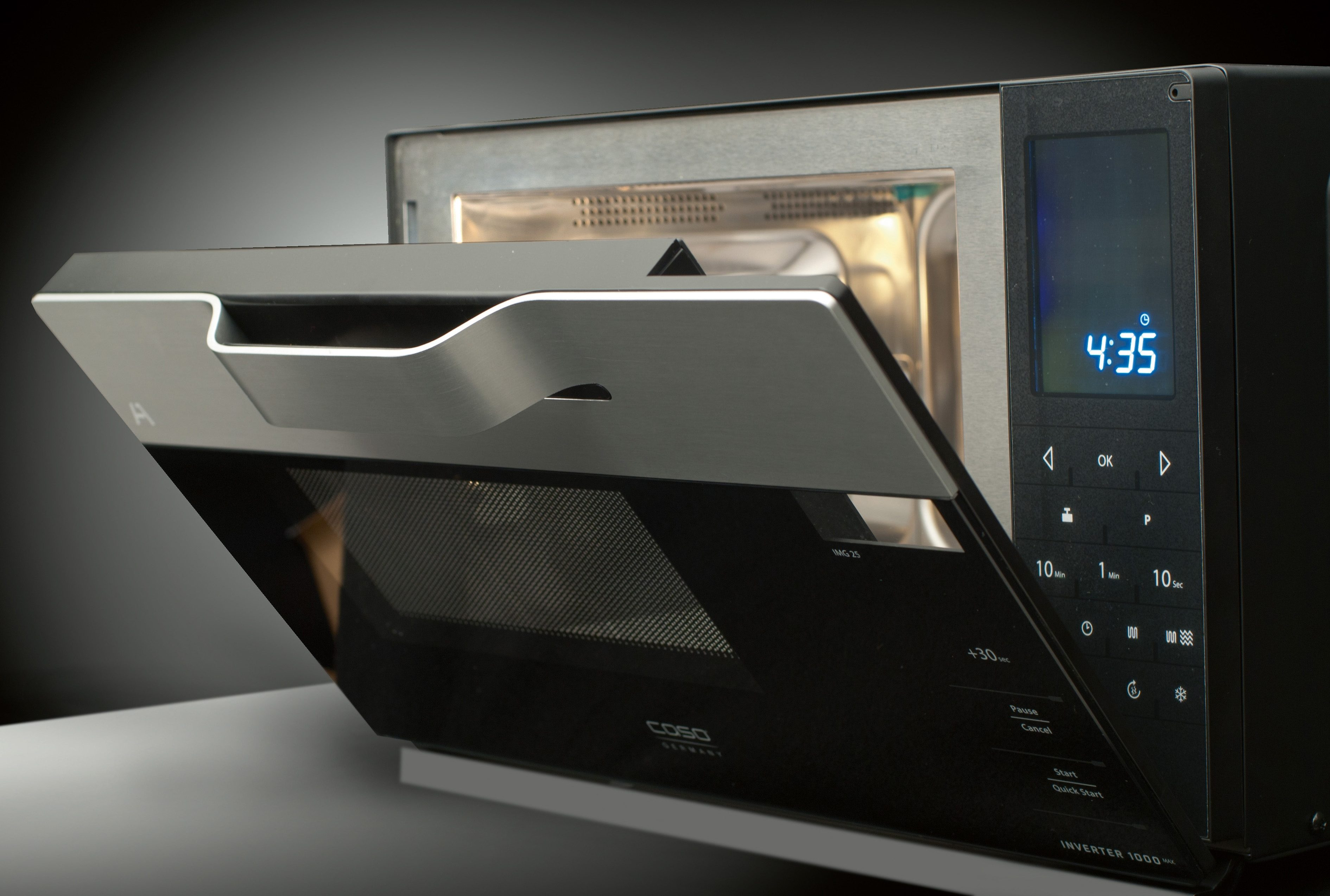 CASO Design Mikrowelle IMG25, mit Grill, 25 Liter Garraum, 900 Watt, Invertertechnik