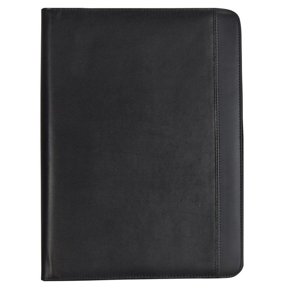 d & n Easy Business Schreibmappe Leder 26 cm in schwarz