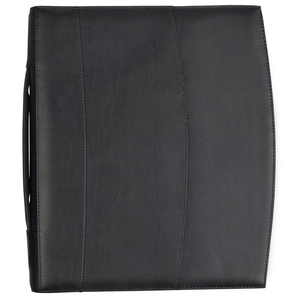 d & n Easy Business Schreibmappe Leder 30 cm in schwarz