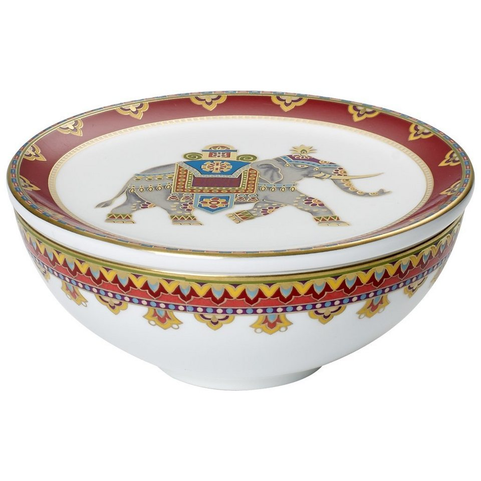 VILLEROY & BOCH Schmuckdose 11cm »Samarkand Rubin Gifts« in Dekoriert