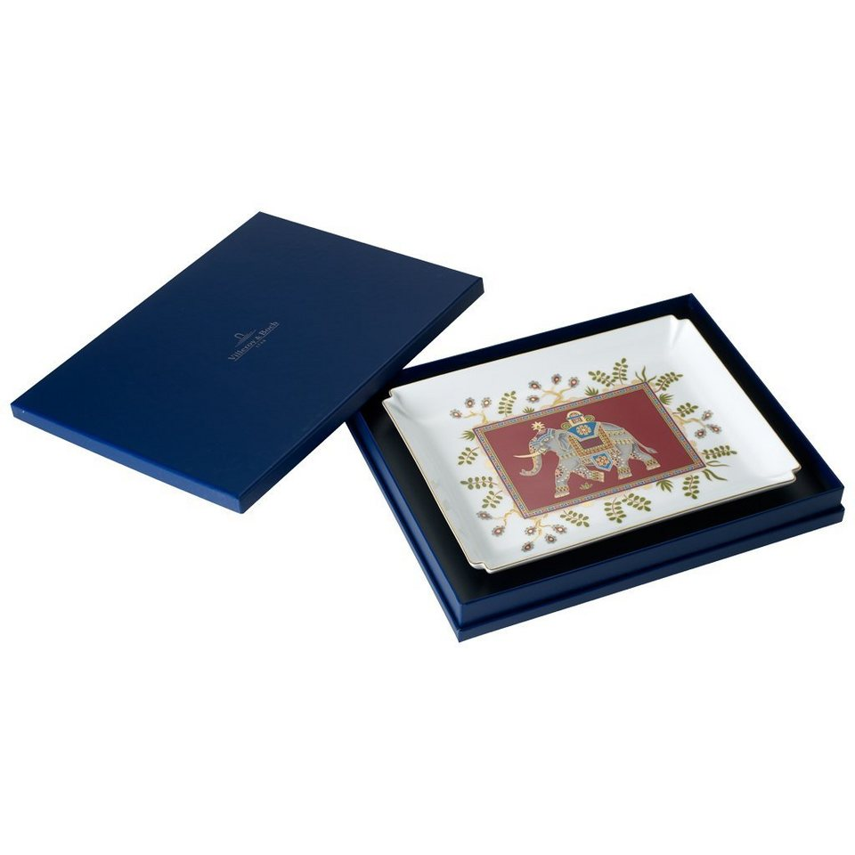 VILLEROY & BOCH Dekoschale groß 28x21cm »Samarkand Rubin Gifts« in Dekoriert