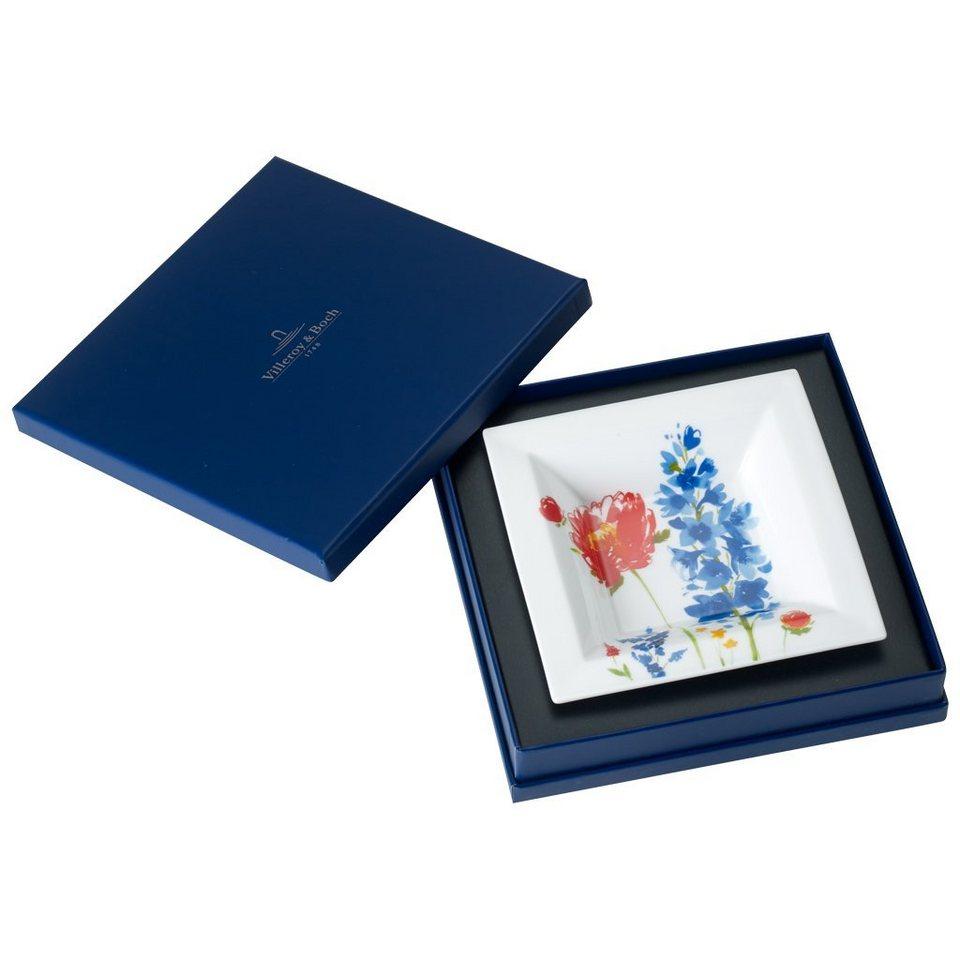 VILLEROY & BOCH Schale Quadrat 14x14cm »Anmut Flowers Gifts« in Dekoriert