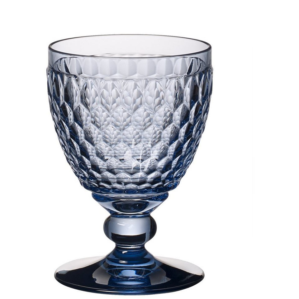 VILLEROY & BOCH Rotweinglas blue 132mm »Boston coloured« in Dekoriert