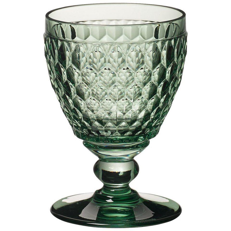 VILLEROY & BOCH Weissweinglas green 120mm »Boston coloured« in Dekoriert