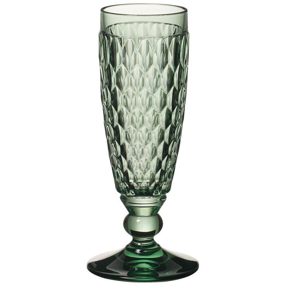 VILLEROY & BOCH Sektglas green 163mm »Boston coloured« in Dekoriert