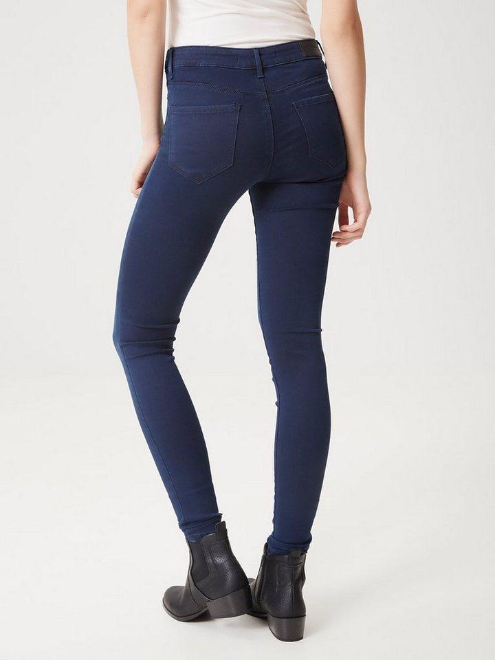 Vero Moda Seven NW Skinny fit jeans in Dark Blue Denim
