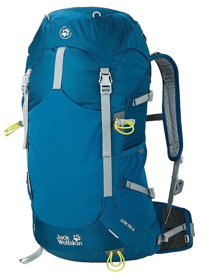Jack Wolfskin Wanderrucksack »Alpine Trail 40 Backpack« in petrol