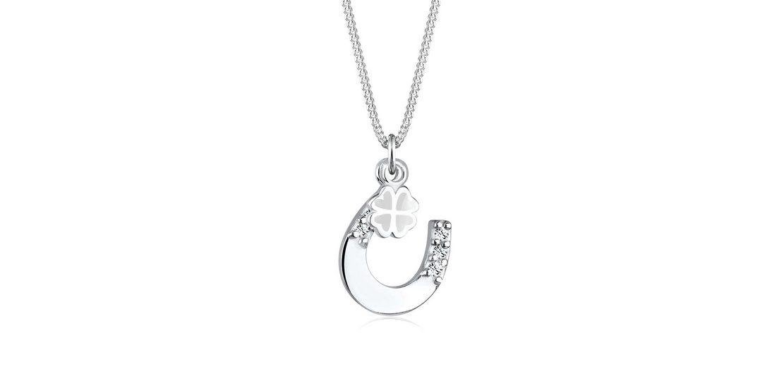 Elli Halskette »Hufeisen Talisman Swarovski® Kristall 925 Silber«