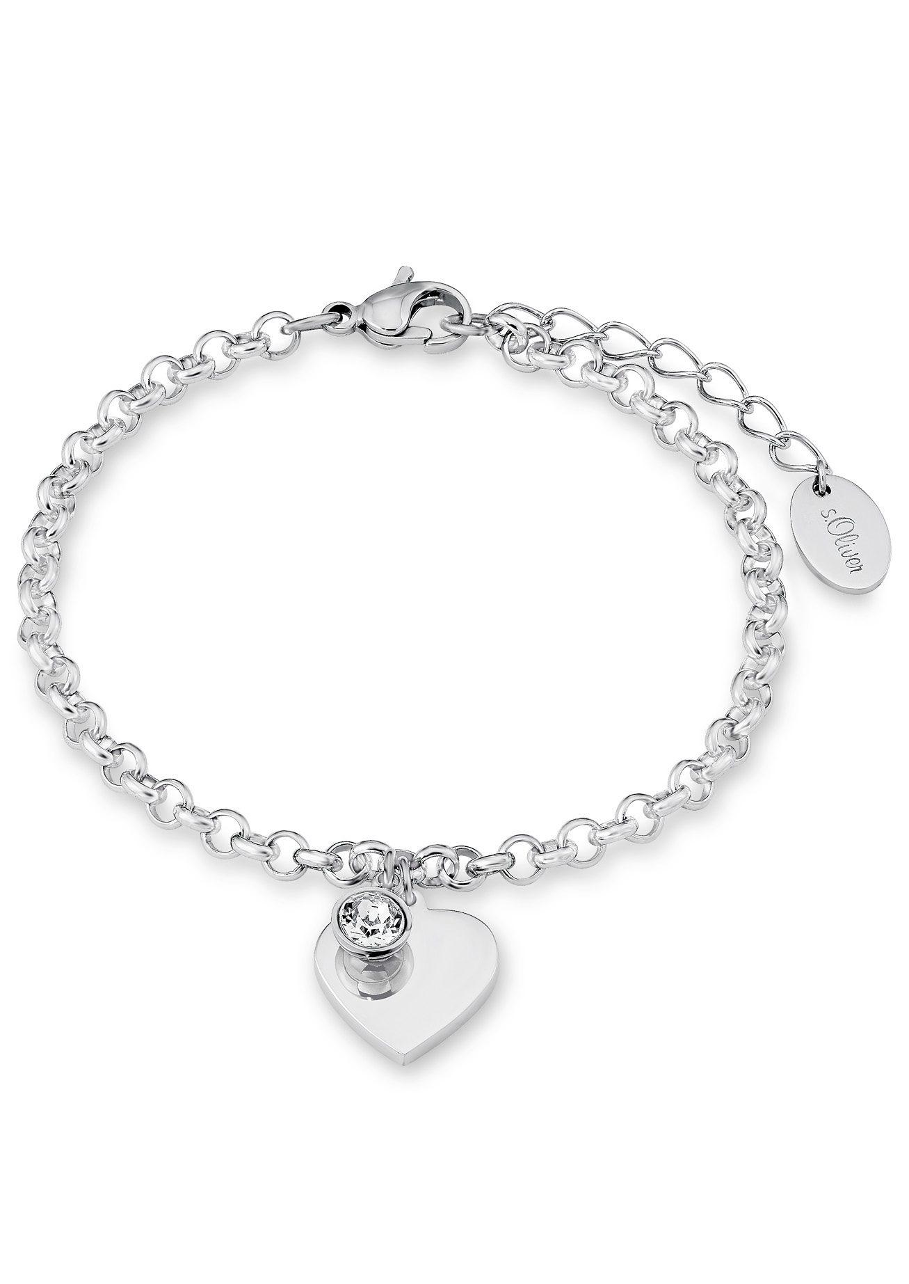 s.Oliver Armschmuck: Armband mit Swarovski® Kristall, »Herz, SO1346/1«