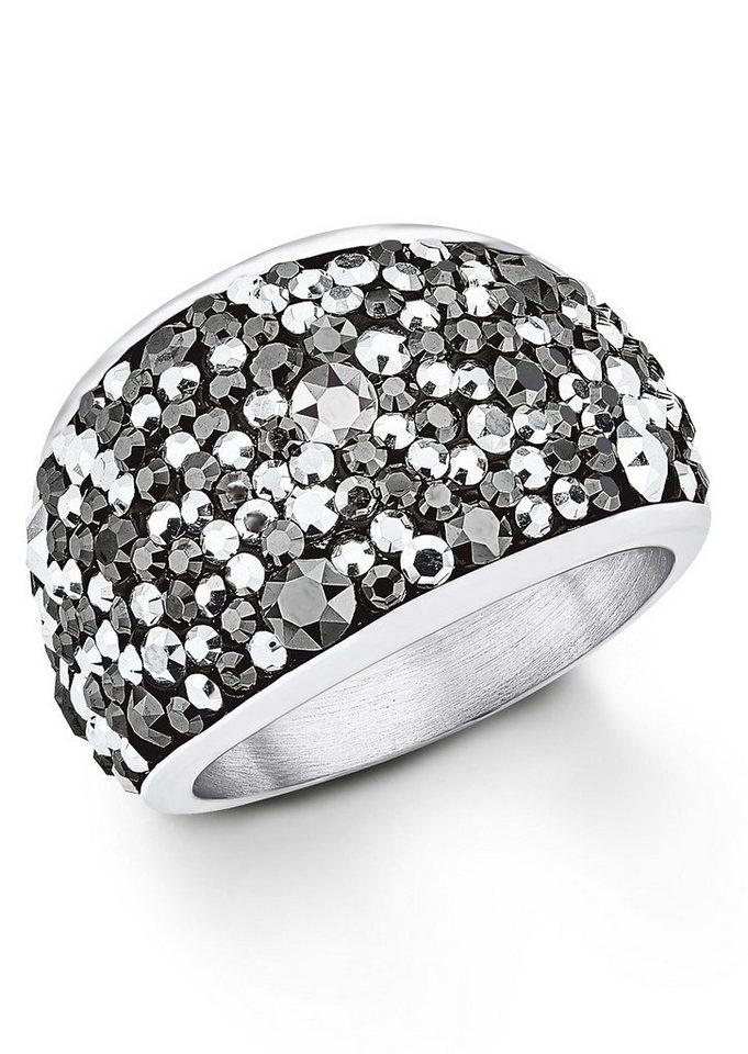 s.Oliver Ring mit Swarovski® Kristallen, »SO1361/1-5« in Silberfarben