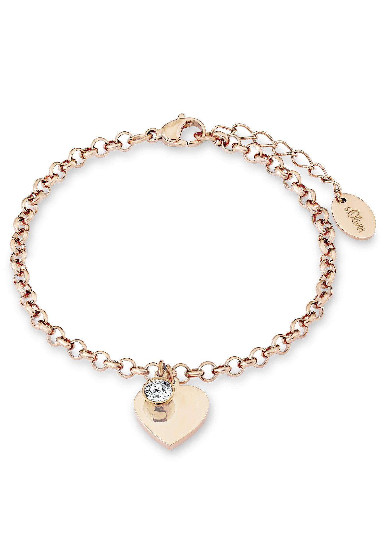 s.Oliver Armschmuck: Armband mit Swarovski® Kristall , »Herz, SO1348/1«