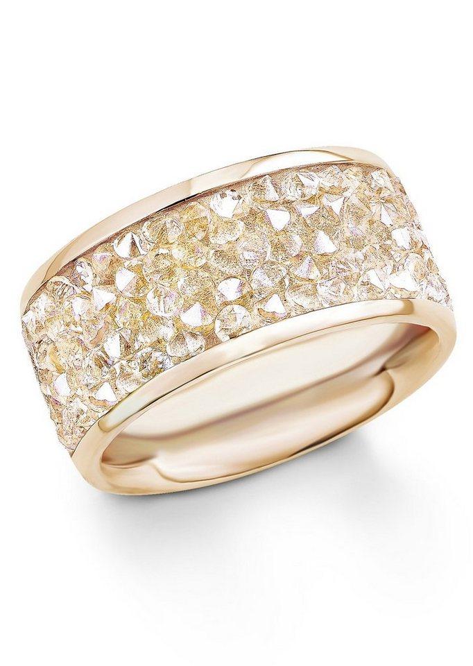 s.Oliver Ring mit Swarovski® Kristallen, »SO1358/1-4« in roségoldfarben