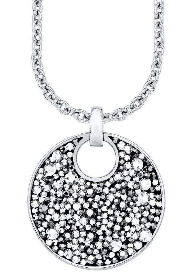 s.Oliver Halsschmuck: Kette mit Anhänger mit Swarovski® Kristallen, »SO1360/1« in Silberfarben