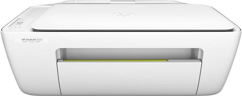 HP Deskjet 2130 All-in-One Multifunktionsdrucker in weiß