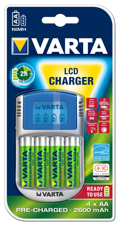 Varta, Ladegerät Für AA und AAA Batterien, »LCD Charger«